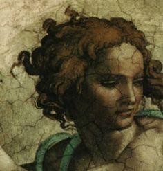 Detail ofEzechiel - The Sistine Chapel  Michaelangelo