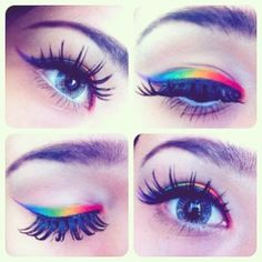 Pink Chocolate Break: Beauty Buzz: Rainbow Eyeshadow