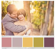I really like this palette with the mauve, berry and green. I'm not too fond of the yellow.