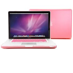 GMYLE (TM) Pink Rubberized See-Through Hard Shell Skin Case Cover for Apple 15-inch Aluminum Unibody Macbook Pro With Silicone Pink Protective Keyboard Cover