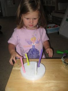 pipe cleaners in Styrofoam + pony beads - Repinned by @PediaStaff – Please Visit ht.ly/63sNtfor all our pediatric therapy pins