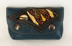 Porte-monnaie en cuir vachette grainé vert foncé : Porte-monnaie, portefeuilles par cuir-de-persac