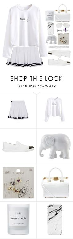 """""""Faded"""" by soygabbie ❤ liked on Polyvore featuring WithChic, Miu Miu, The Elephant Family, Topshop, Tyler Alexandra, Byredo and Linda Farrow"""