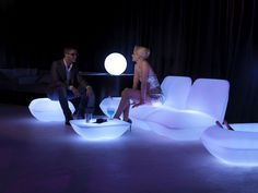 Coffee table / contemporary / rotomolded polyethylene / illuminated PILLOW by Stefano Giovannoni VONDOM