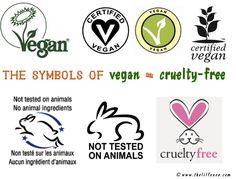 The symbols of vegan and cruelty free