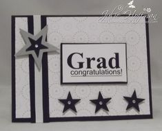 Stars and Circles Graduation Card by CMU1999 - Cards and Paper Crafts at Splitcoaststampers