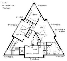 Triangular Shaped Floor Plans | architecture | Pinterest ...