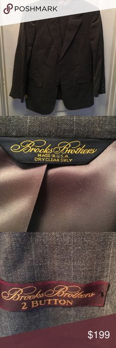 Brooks Brothers Light Gray Pinstripe 2 Button suit New with tags Brooks brothers light gray pinstripe two button suit. Size 40 regular. Pants 34 waist, 29 inseam. With pleated front and cuffs Brooks Brothers Suits & Blazers Suits