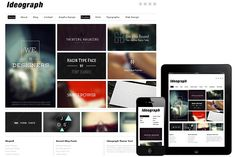 Ideograph Responsive WordPress Theme by Dessign on Creative Market