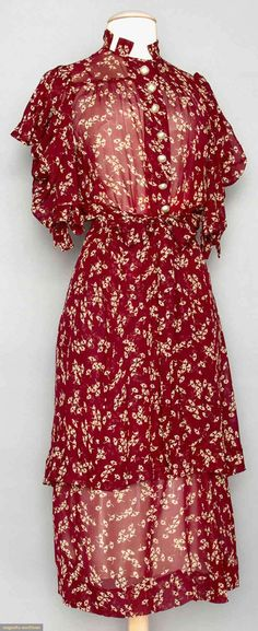 Two Silk Day Dresse, 1930s, Augusta Auctions, MAY 13th & 14th, 2014, Lot 120