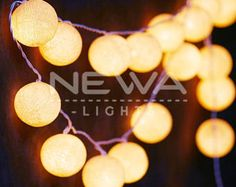 20 Beige Cotton Ball Fairy Lights Indoor String Lights Warm White Christmas Lights Gifts Bedroom Nursery Patio Party Wall Hanging Home Decor