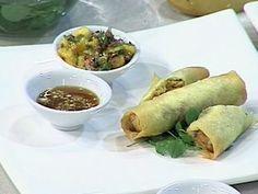 Spring rolls de pollo y curry Chefs, Fresh Rolls, Curry, Mexican, Spring, Ethnic Recipes, Food, Oriental, Gourmet