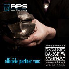 APS Glass & Barsupply Nederland is officiële partner van Perfect Serve Barshow Amsterdam, omdat wij denken dat Amsterdam een mooie barshow verdient! Perfect Serve is een boutique barshow, waarbij de focus ligt op de producten zelf. Een platform waar aanbieders, merken, bareigenaren, bartenders en cocktailliefhebbers samenkomen. Tickets voor de barshow: http://www.perfectserve-barshow.com/#!ticketshop/ce3i.