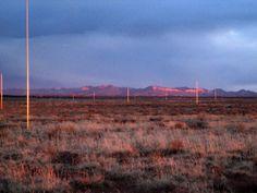 Walter de Maria, Lightning Field, 1977, Long-term installation, Quemado, New Mexico.