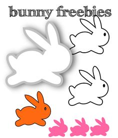 bunny silhouettes ♡♡♡ ––– for DIY Easter garlands and DIY table decoration ––– free printable