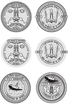 <> Space Badges by Seiji Hori, via Behance Coin Design, Web Design, Badge Design, 2 Logo, Badge Logo, Space Patch, Badges, Patch Design, Grafik Design