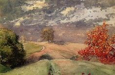 Autumn, Mountainville, New York by Winslow Homer (1836 – 1910): Homer was an American landscape painter and printmaker, best known for his marine subjects.