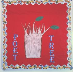"This is the ""Poet-Tree"", Imbondeiro (Baobab Tree) Style, in my library! I saw this on Pintrest and we made it our own @ LIS Secondary Library 