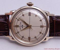 Hamilton CLD Reardon c.1949 Vintage 14k Yellow Gold Mens Watch Serviced 12/15 #Unbranded