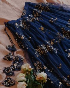 Blue And Golden Poppy Lane Lehenga Indian Bridal Outfits, Indian Designer Outfits, Poppy Lane Lehenga, Lengha Blouse Designs, Indian Lehenga, Pakistani, Designer Bridal Lehenga, Lehnga Dress, Indian Gowns Dresses