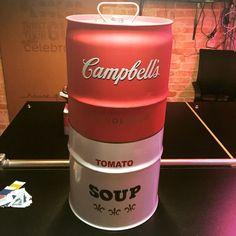 Campbell's Soup #rebecaguerra #campbellssoup #campbells #latão #barril #industrialdesign:
