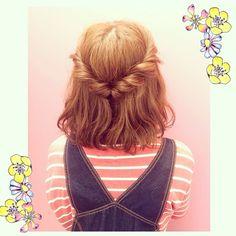 くるりんぱの5分アレンジ♡  使ったのはヘアゴム1つ♡  #hair #hairset #hairstyle #hairarrange #arrange #wadamiarrange #ヘアアレンジ#ヘアセット#ヘアスタイル#アレンジ