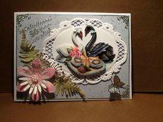 Marianne Design, Diy Cards, Swan, Card Ideas, Om, Butterfly, Weddings, Handmade, Crafts
