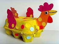 Poule colorée