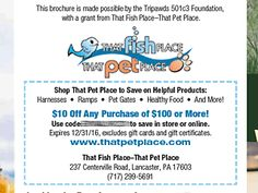Get your @ThatPetPlace discount for your vet clinic's patience with new #Tripawd outreach brochures! http://tripawds.org/2015/07/that-pet-place-brochures/