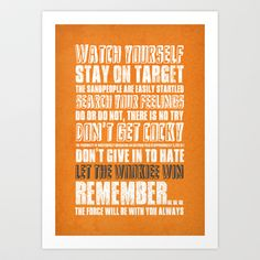 What I've learned from Star Wars Art Print by Rubbishmonkey - $16.00