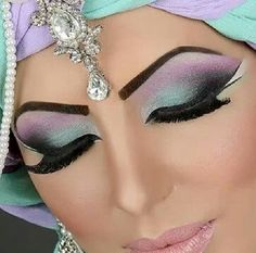 Pastel arabic Asian bridal makeup