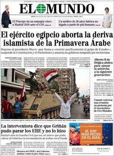 Los Titulares y Portadas de Noticias Destacadas Españolas del 4 de Julio de 2013 del Diario El Mundo ¿Que le parecio esta Portada de este Diario Español?