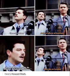 """Humbled by his genius."" No. No. ""Brilliance."" ""Humbled by his brilliance."" Hmm. We are humbled. #AgentCarter"