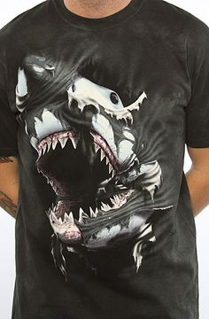 The Mountain The Attacking Shark Tee in Black