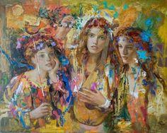 Goyo Dominguez (España, 1960 - residente en UK) - Canción para amanecer, 2009. Pastel sobre papel 65 x 81 cm.