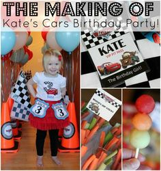 Make your next race car themed party a hit with these FREE Cars Birthday Party Printables! PDFs and images of additional decoration ideas included. Disney Cars Party, Disney Cars Birthday, Car Birthday, Car Party, Movie Party, Party Fun, Party Time, Birthday Gifts, Car Themed Parties