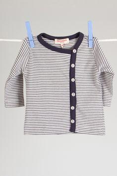 Imps & Elfs Baby Girls Knit Asymmetric Cardigan in Navy Blue - Beyond the Rack