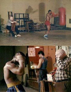 Mike Tyson, training under the watchful eye of Cus D'amato..