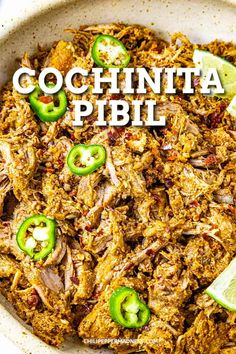This cochinita pibil recipe makes the best pulled pork for tacos, burritos, tortas and more, uniquely flavored with achiote. It is classic Mexican cuisine. Mexican Meat, Mexican Pulled Pork, Mexican Cooking, Mexican Tacos, Spicy Chicken Recipes, Meat Recipes, Food Processor Recipes, Dinner Recipes, Mexican Recipes