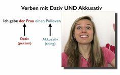 German Verbs with Dative and Accusative- Verben mit DATIV und AKKUSATIV