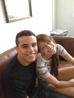 Jacob Artist And Melissa Benoist  New Rachel and Finn on Glee:)  Too cute!!