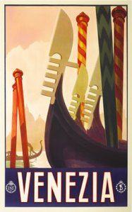 Venice Art Deco Poster