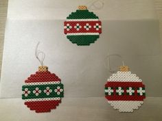 Christmas baubles hama beads by Isaac Borras