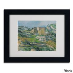 Paul Cezanne 'Houses In the Provence 1833' Framed Matted Art