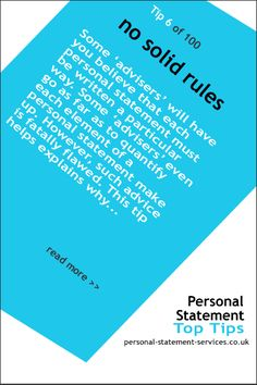 Personal Statement Top Tips-No solid rules