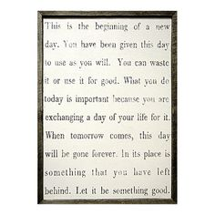 Found it at Wayfair Supply - This is The Beginning Framed Painting Print