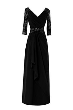 Bess Bridal Women´s Formal 3/4 Long Sleeve Mother of the Bride Dresses Black Bess Bridal http://www.amazon.com/dp/B01A8707S4/ref=cm_sw_r_pi_dp_.Iq3wb1625XXD