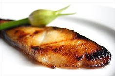 I've modified this Miso Recipe to:  1/4 cup sake, 1/4 cup mirin,  3/4 cup white miso,  3/4 cup sugar - Heat sauce over stove and let cool down.  Marinate fish for 2 days for the best flavoring.  You can avoid the grill and go straight to the oven, the extra sugar will caramelize the fish.