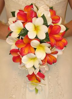 Real Touch Frangipani Wedding Bouquets - Eternal Bouquets
