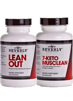 Beverly International Lean Muscle Stack (Lean Out & 7-Keto Musclean)